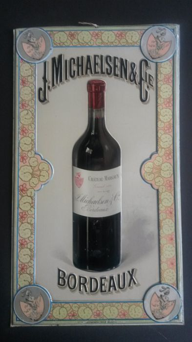 Metal sign - Chateaux Margaux Bordeaux - 1900/1910