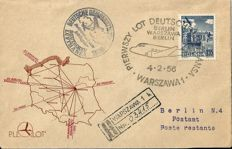 Poland - covers from first, inaugural and special flights