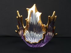 Bayel Cristal - Beautiful large fire bowl in purple crystal