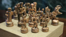 Miniatures in lead, belonging to a chess set