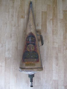 Decorative metal fire extinguisher - Brussels Belgium - ca. 1930