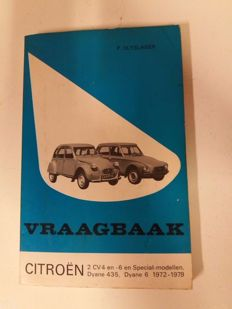4 x FAQ books (vraagbaak), 4 x instruction booklet Citroen and Simca - 2 x technical manual various classic cars