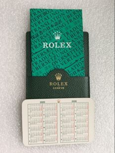 Rolex Classic Green Leather VIP Holder - Multinational Translation Brochure - Calendar Card -code:101.40.55--- No Reserve Price --item number:59