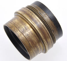 Taylor & Hobson very old brass lens Cooke serie V 198mm F:8 for Lamperti & Garbagnati