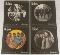 "4 Clementoni puzzles from The Beatles - 12"" Vinyl size - 112pcs"