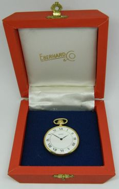 Eberhard & Co - pocket watch with box - circa 1930