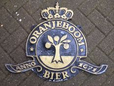 Oranjeboom beer double-sided signboard