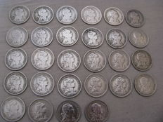 Complete collection - Alpacca - 50 centavos - 28 coins - missing 1935 +, Luis, Manuel, and republic - 1883 - 1910 - 1917 - 1918 - 1919 - 1924 - 34 Coins