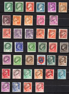 France 1922/47 – Selection of precanceled stamps – Yvert between no. 65 and 104.
