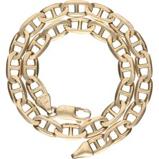 14 kt - Yellow gold curb link bracelet - Length: 24.5 cm