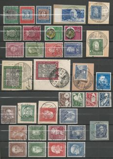Federal Republic of Germany 1949-1954 - selection between Michel 113 and 203 plus 2 FDCs