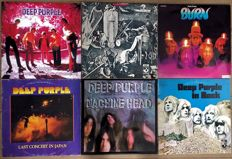 "Deep Purple: lot of six original lp's one of which is an unofficial lp ""Shadows"" ""Deep Purple (1969 lp"" ""Burn"" ""Last concert in Japan"" ""Machine head"" ""In rock"""