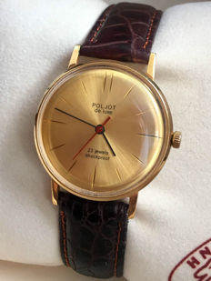 POLJOT - DE LUXE (ultra slim) - USSR men's wristwatch - 1960s