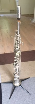 Soprano Saxophone Amati Classic de Luxe, with case and French (Riffault) mouthpiece