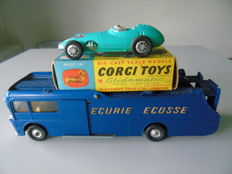 Corgi Toys - Scale 1/43 - Lot truck Ecurie Ecosse No.1126 and BRM F1 Grand Prix Racing Car No.152S
