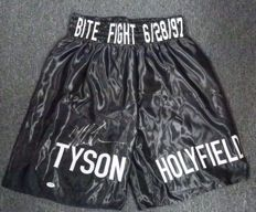 Mike Tyson Autographed Boxing Shorts Trunks Tyson vs. Holyfield AUTO XL PSA/DNA COA HOF USA  Hand signed by Legend. No Reserve Price!