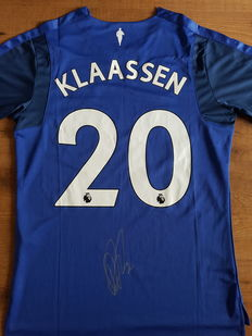 Signed Everton home shirt 2017/2018 by Davy Klaassen