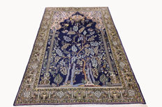 Fine Persian carpet, Qom, 2.08 x 1.44, hand-knotted, high quality new wool with silk, Orient carpet, TOP CONDITION