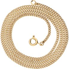 18 kt yellow gold, curb link necklace – length: 51.5 cm