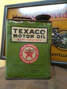 Very rare and old 2-litre TEXACO. From 1913 to 1936. Used