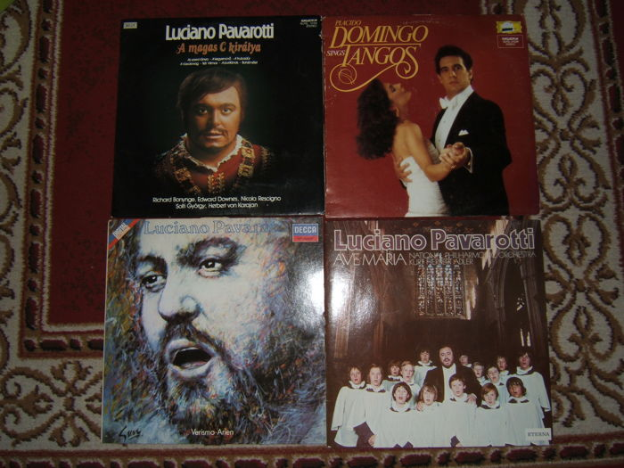 Pavarotti / Domingo / Carreras/Carlo Marria Giulini - 8Lp+2 double Verdi Album+ 3 Bach Album