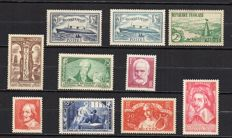 France 1935 - complete year 1935 - Yvert no. 299 to 308