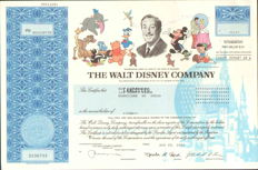 The WALT DISNEY Company - real issued stock certificate - 2002