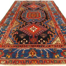 Hamadan - 198 x 123 cm - ´Colourful Persian carpet in beautiful condition´ - With certificate