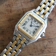 "Cartier "" Two Row Gold ""  Panthere  - Ladies watch"