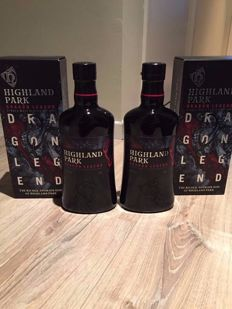 2 bottles - Highland Park Dragon Legend