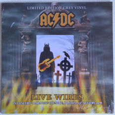 Lots Of 3 Live Albums By AC/DC , Live Wires - In Concert - Paradise Theatre, Boston, 21st August 1977 Color Grey , Hell's Highway Color Orange, 2 Lp Live 1979 - Towson Center, Maryland 180 Grams