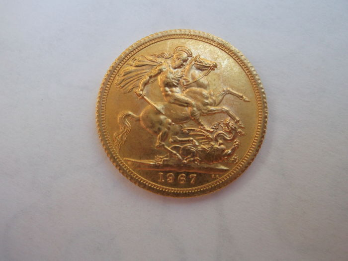 England - Sovereign 1967 - Elizabeth II - Gold