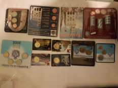 San Marino and Vatican - Lot of rolls, mini series, coin card, and divisional series 2002-2015 (83 coins in total)