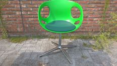 Hiromichi Konno for Fritz Hansen - Rin Chair (HK10), green with upholstery