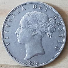 United Kingdom -- ½ Crown 1883 Victoria -- silver