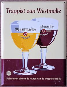 TRAPPIST WESTMALLE BELGIUM - belgian advertising beer sign