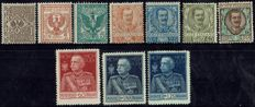 "Italy, Kingdom, 1901/1931 – Small lot composed of complete series and 7 ""Floral"" values and 5 Manzoni values"