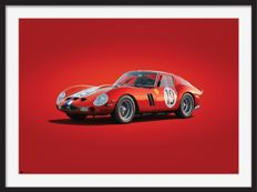 Ferrari Colors of Speed - fine art print - Ferrari 250 GTO  -Le Mans - 70CM X 50CM