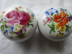 Small Meissen sugar/candy containers with lid