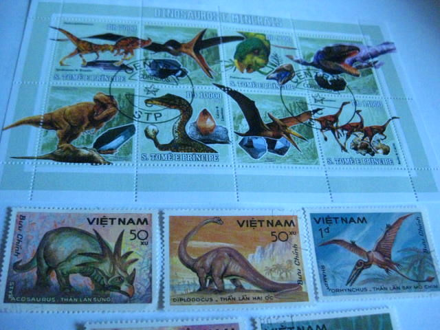 Themes 1980/2015 - collection in album, mating faces, postage stamps, etc. from all over the world