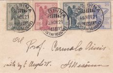 Kingdom 1921/1931 - Small lot of stamps and three letters.