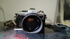 Minolta X-500 & MD50mm Lens with many accessories