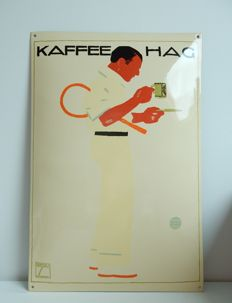 Kaffee Hag - enamel advertising sign - 1980s