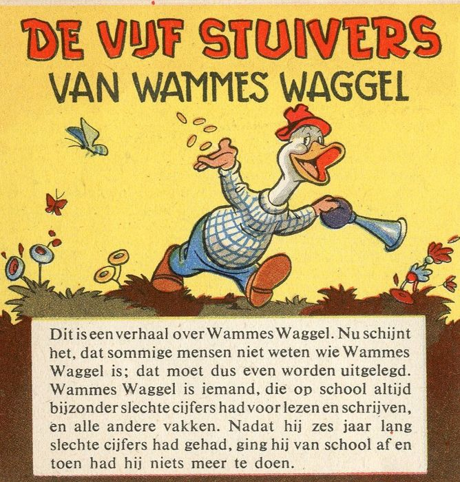 "Tom Puss and Oliver B. Bumble - folder ""De 5 stuivers van Wammes Waggel"" (1953)"