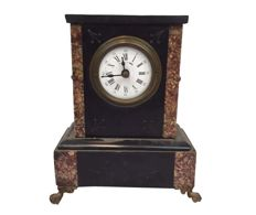 Marble clock with enamel dial – Duverdrey & Bloquel  – Late 19th century
