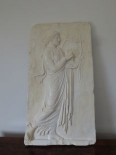 Gypsum bas-relief, Greek art, school of Phidias - Italy - 20th century