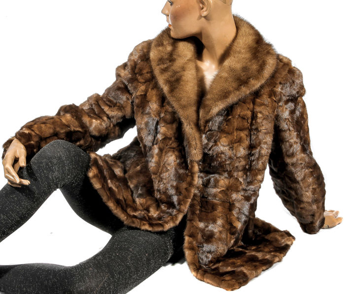 Exclusive fur jacket fashion mink jacket caramel brown fur jacket mink fur