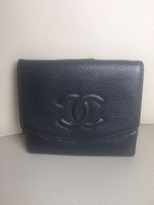37c2ed78f881 Chanel - Caviar - leather wallet *NO RESERVE PRICE* - Catawiki