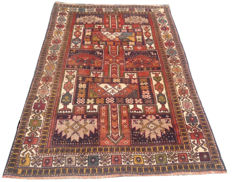 MID OF 20TH CENTURY ! Authentic Persian Hand Knotted Zaidaan Area Rug 187 cm x 116 cm
