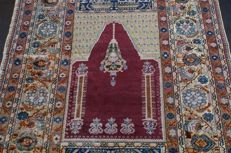 Antique Turkish carpet approx. 100 years old 208 x 142 cm